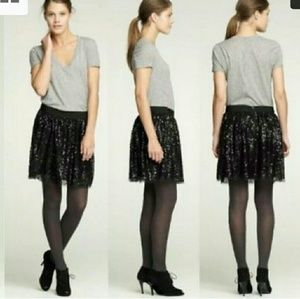 J. Crew Size 4 Black Sequin Starry Night Skirt